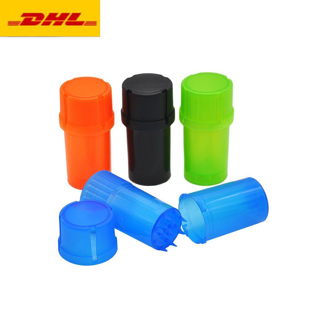 Protable Grinder 3 Schichten Kunststoff Tabak trocken Handbrösler Wasserdicht Air Tight Medical Grade Tabakbehälter Bedarf Raucher