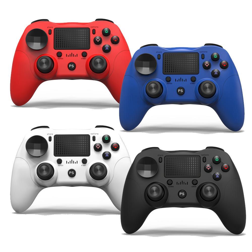 بلوتوث اللاسلكية لعبة تحكم متوافق مع PS4 / PRO / SLIM وANDROID / PC 6 محور USB Contection كابلات المقود 4 ألوان