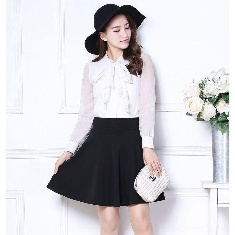 MDHTs nueva primavera y el verano de alto A- LÍNEA s Pengpeng plisado de baile de las mujeres del estilo de Corea de la cintura Pengpeng oVEoQ paraguas falda A- s vestido plisado