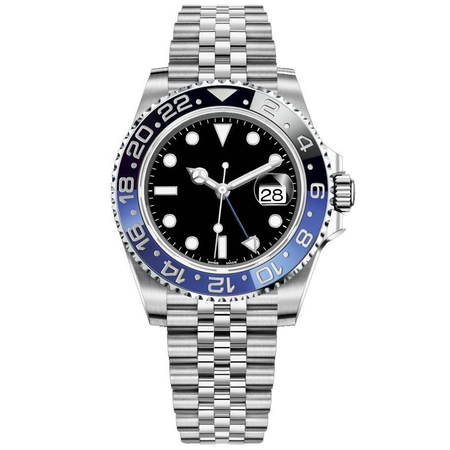U1 Erkek Saatler 40mm Otomatik Mekanik İzle Paslanmaz Çelik Mavi Siyah Seramik Safir Saatı Montre de Luxe