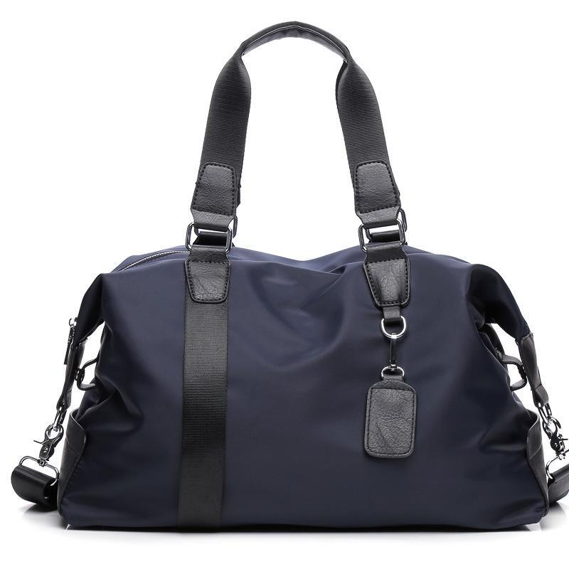 Alta Qualidade Men Malas de Viagem bagagem de mão Totes grande capacidade portáteis Bolsas de-semana Casual PU + Nylon Viagem Duffle For Men Bolsas
