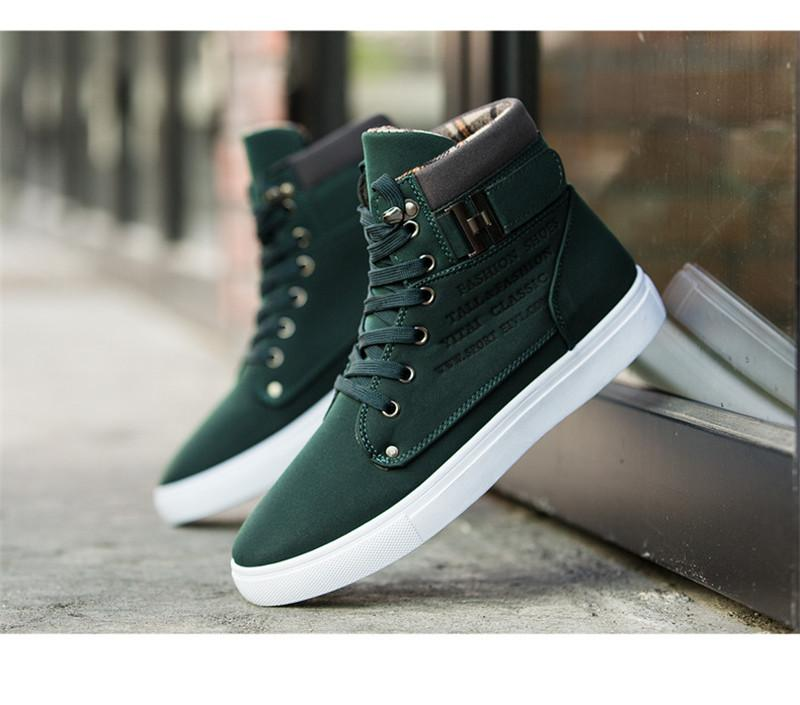 espadrille de mode Chaussures bas épais haut haut chaussure à lacets camouflage