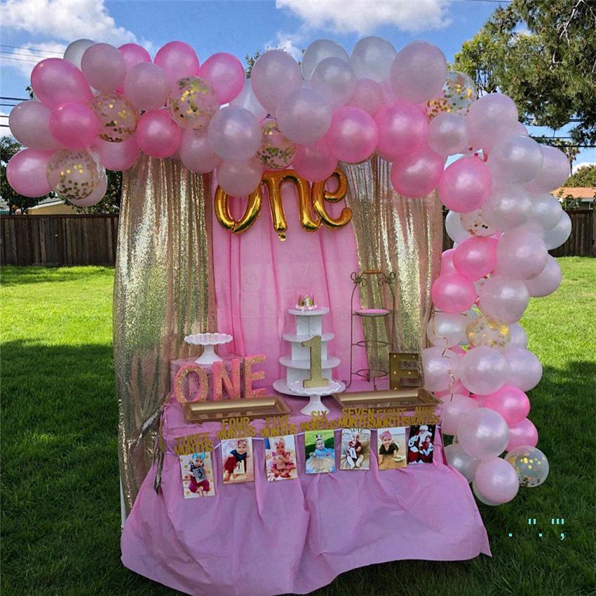 124pcs / set dia dos namorados balão Sequins balões de bling festa de aniversário do Festival suprimentos paillette Decoração do casamento airballoon E32 1O9K #