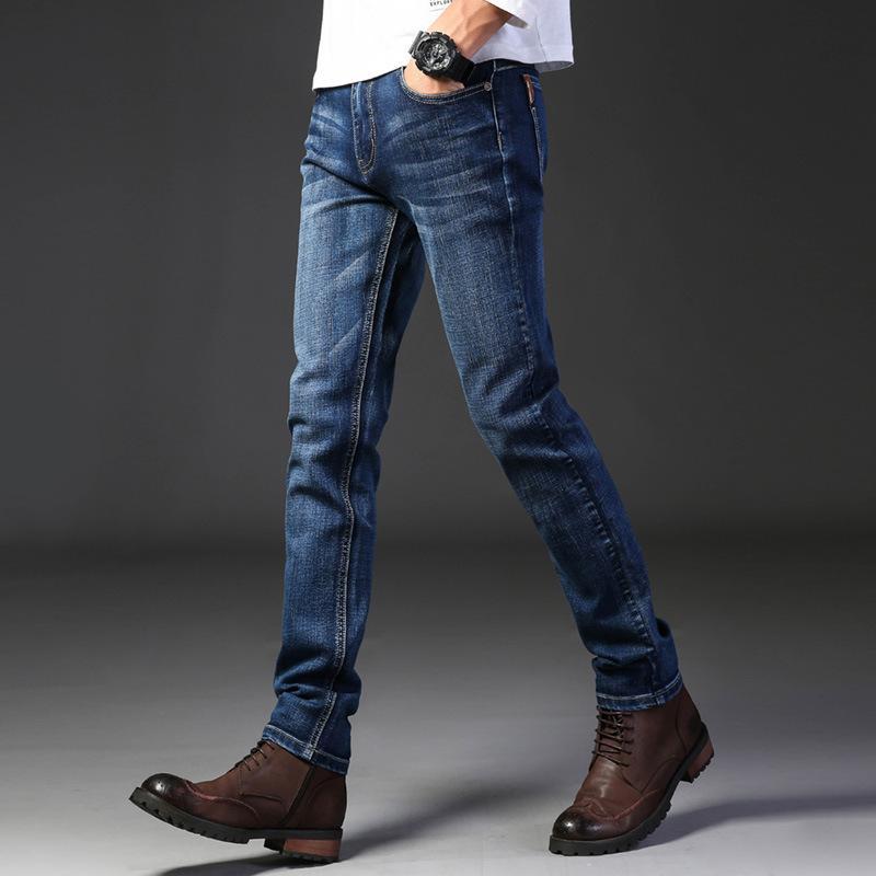 Marca Jeans Retro Nostalgia Straight Denim Jeans Hombres Hombres largas de la moda los pantalones flojos de tendencias comerciales pantalones casuales Hombres Ropa CX200820