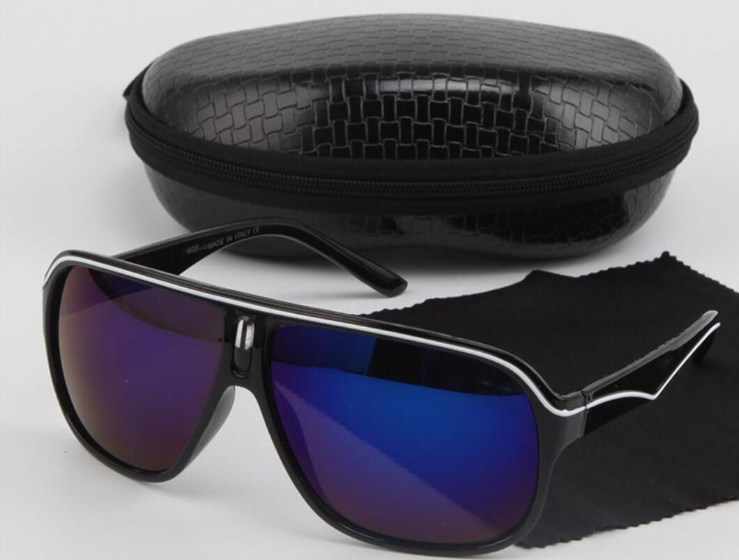 Marchi classici occhiali da sole polarizzati degli uomini di guida Occhiali neri pilota Sun di vetro di marca maschile retro occhiali da sole per gli uomini / donne con la scatola