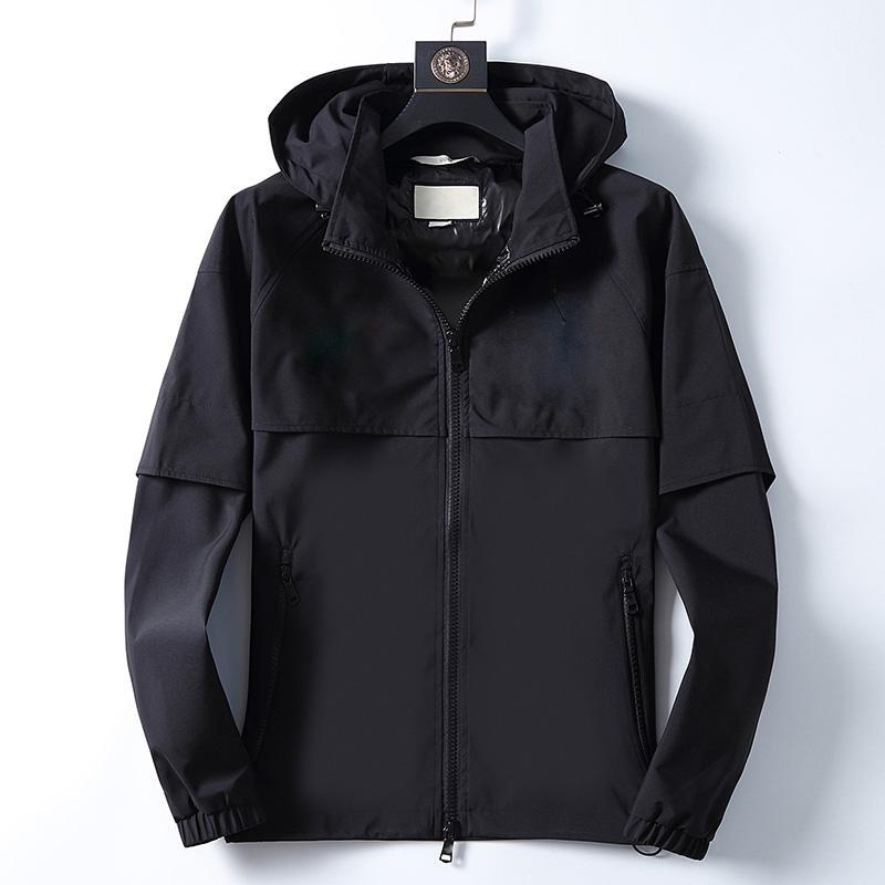 YENİ adamın tasarımcı ceket Yüksek Kaliteli Gömlek Modelleri erkek ceketi Sonbahar Kış İlkbahar lüks giyim Siyah beyaz nakış mektup ceket
