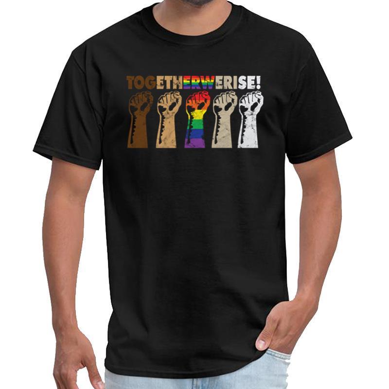 Gráfico Juntos Rise - soldados negros vidas de los derechos civiles Materia de naves espaciales hombres de la camiseta Ropa animado camiseta más tamaños s-5XL nat