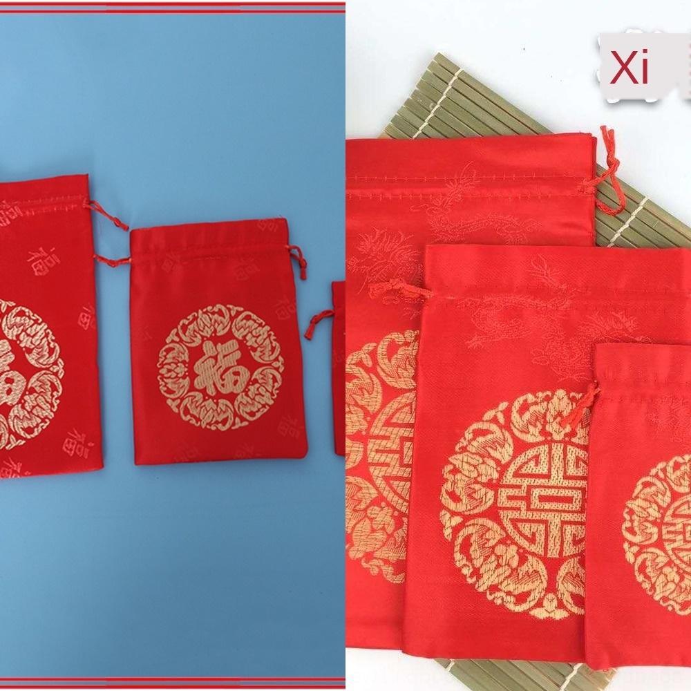 Fournitures brocart sac brocart bijoux de sac de bonbons chanceux bijoux de puissance mobile 4Choh