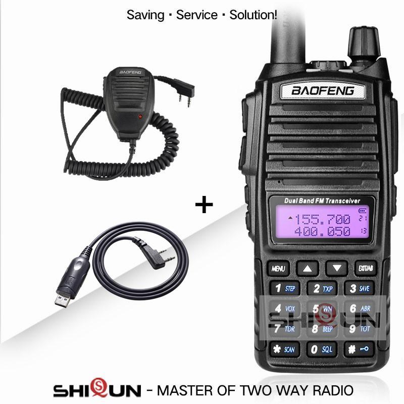 Walkie Talkie Original Baofeng 8w 10 km Dual Band VHF UHF Portable UV82 UV-82HX UV 82 Ham Radio GT-3