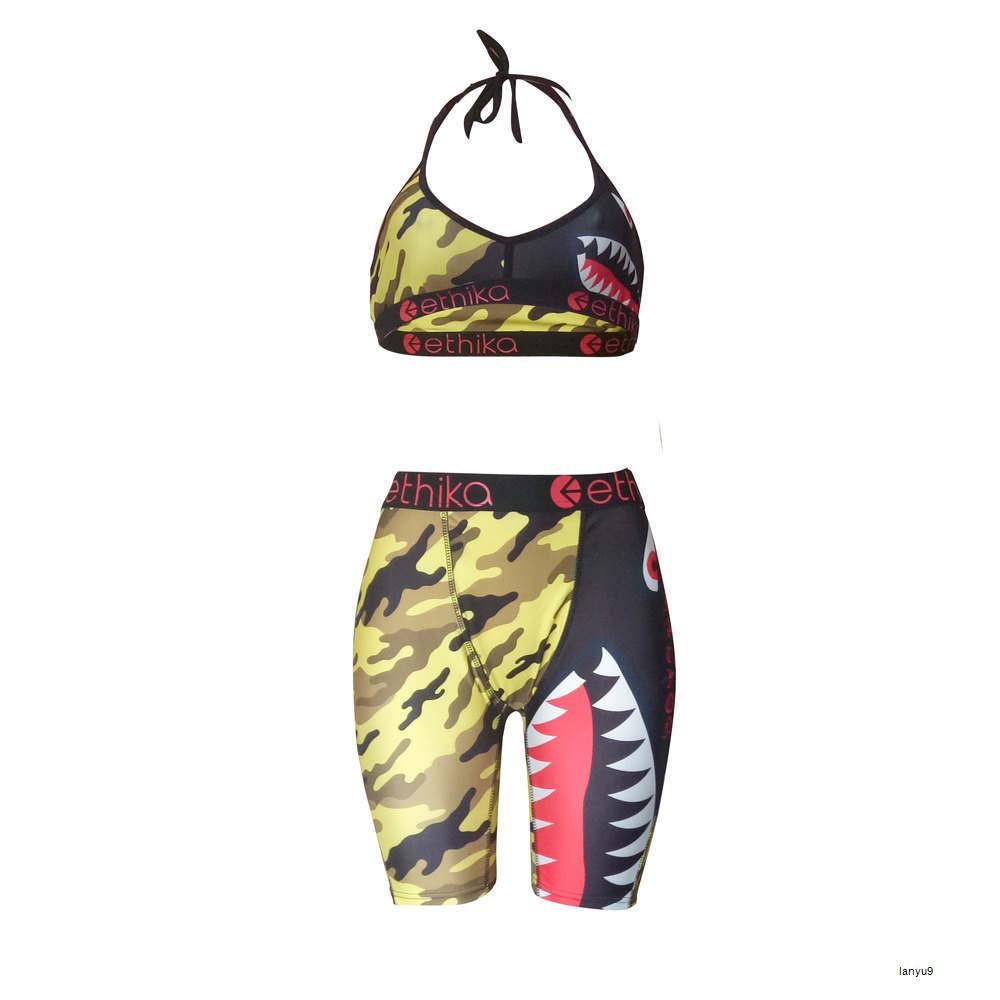 Ropa de gimnasia Mujeres Ethika Mujeres Conjuntos Ethika Boxeos Mid Cintura Ladies Bikinis Para mujer Trajes de baño Nuevo sujetador + Pantalones cortos 6ner AP2W