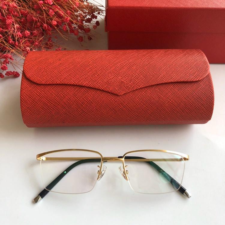 2020 جديد ذات جودة عالية موجز الأعمال مصممة الرجال CT7506 نظارات خفيفة الوزن إطار بصري المعدنية halfrim عن حالة وصفة طبية fullset