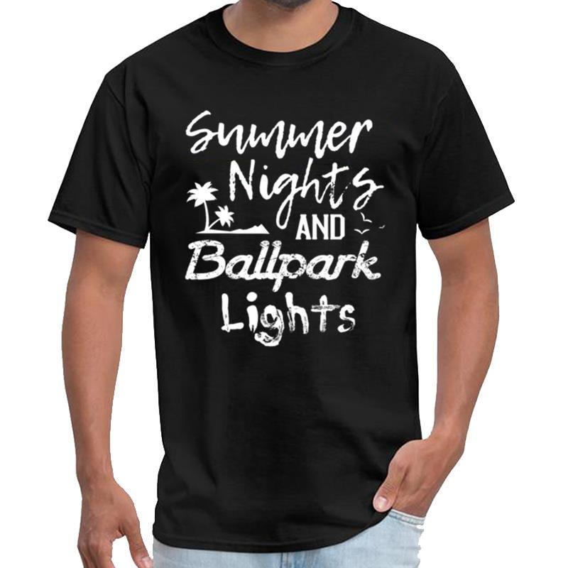 Béisbol divertido de la vendimia cita del 'Summer Nights sans camiseta hombres picos gemelos camiseta 3XL 4XL 5XL hiphop tops