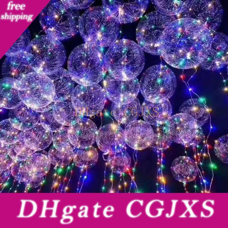 Led Bobo palloncino colorato trasparente rotonda bolla Parte festa del partito della decorazione di Natale Wedding Balloons illuminazione 3m String WX9 -174