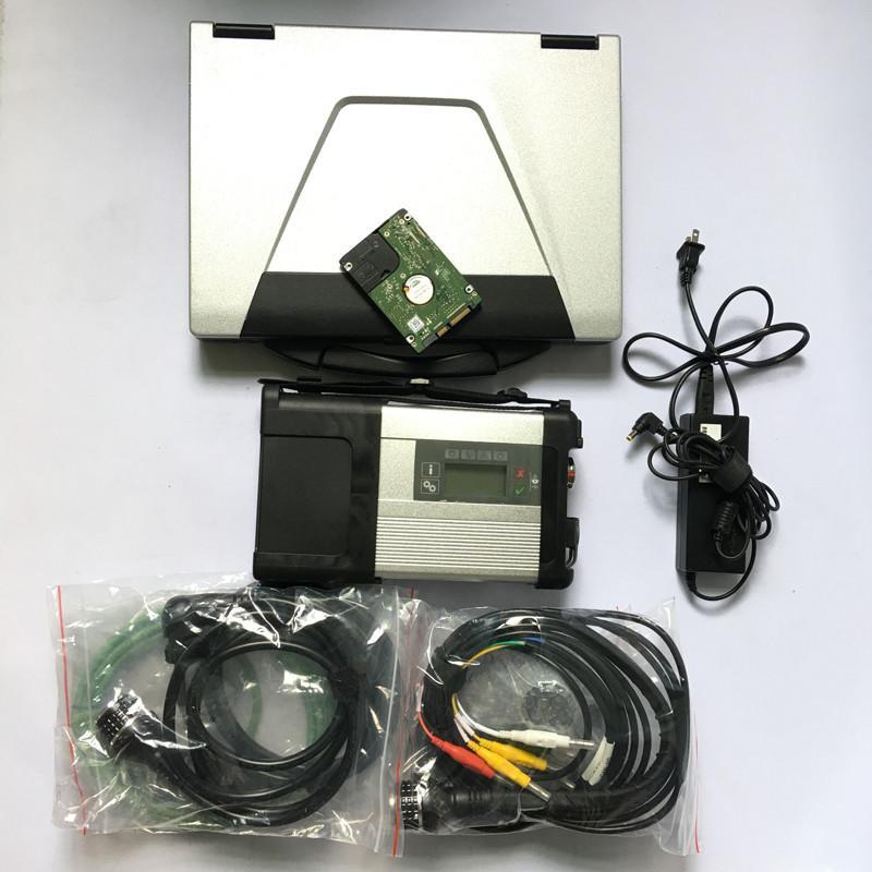 MB ESTRELA C5 SD connect Auto diagnóstico do scanner Xentry desenvolvedor de chip cheio c5 estrela mb SSD super com cf-52 portátil