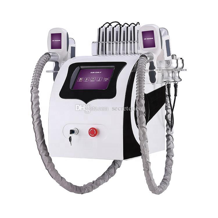 새로운 도착 한 Cryolipolysis 지방 냉동 슬리밍 기계 냉동 요법 초음파 RF 지방 흡입 리포 레이저 기계 페덱스 무료 배송
