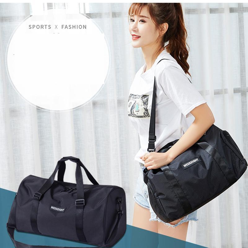 في الهواء الطلق مقاوم للماء أكياس نايلون الرياضة الرجال النساء تدريب اللياقة البدنية السفر حقيبة اليوغا حصيرة الرياضة حقيبة مع أحذية حجرة