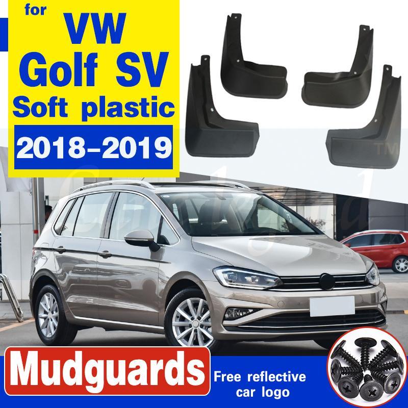 Auto Vorderrad Hinterrad Zubehör für Volkswagen VW Golf Sportsvan SV 2018 ~ 2019 Schmutzfängerghoul Fender Schlammschutz Kotflügel Spritzschutz