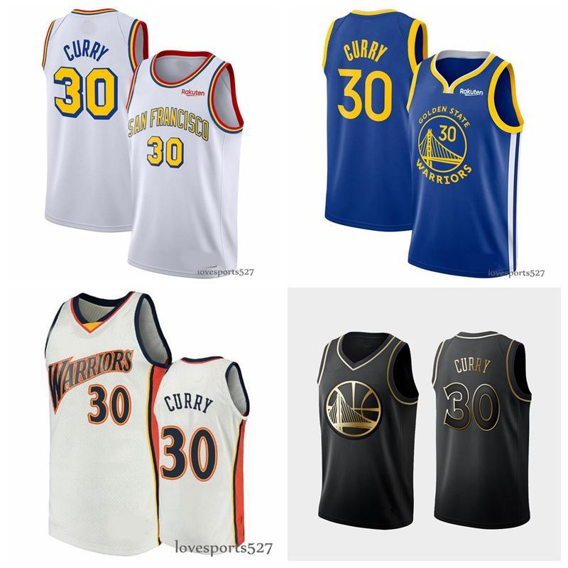2020 hombres de Golden StateguerrerosJersey 30 StephenCurry 11 KlayThompson Baloncesto nueva Jersey 829