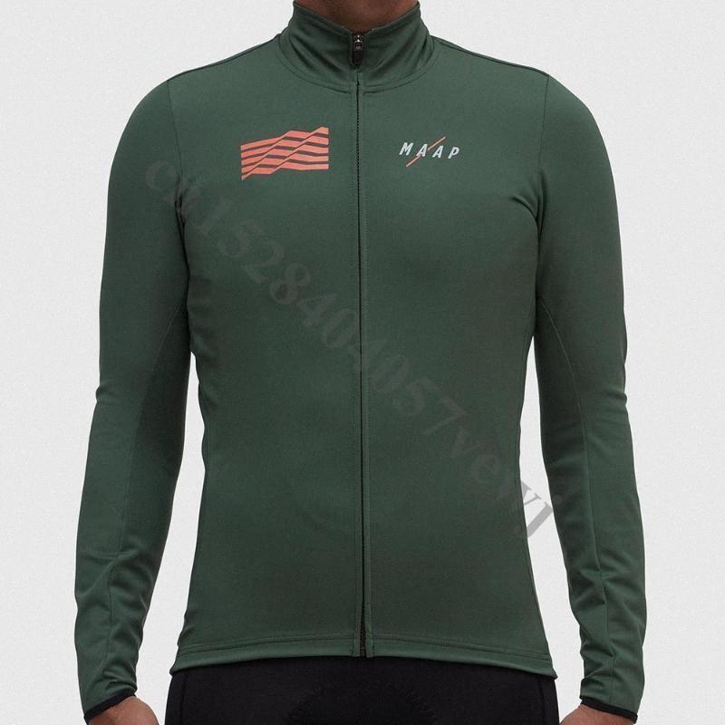 2020 2020 Pro MAAP Yeni Uzun Kollu Erkek Bisiklet Jersey MTB Bisiklet Giyim Giyim Sonbahar Bisiklet Giyim Ropa Ciclismo Bisiklet Giyim Y8zV #