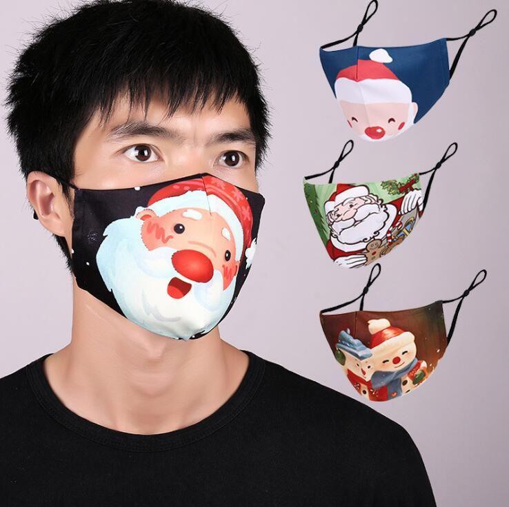 Nouveau Masques de Noël Cerf Imprimé Noël Masques visage anti-poussière flocon de neige de Noël bouche lavable réutilisable PM2.5 Masques Free Filtres DHL