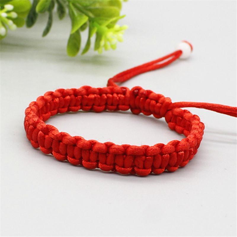 Pulseira Corda bebê pulseiras, tecidos à mão selvagem Walnut Red