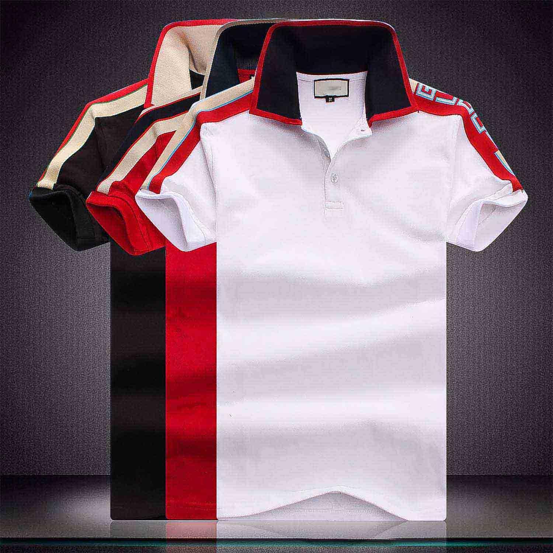 Brand New Fashion Medusa Polo Mode Polo Hommes Casual Polo T-shirt de serpent d'abeille broderie de fleurs à manches courtes pour homme Casual Polos