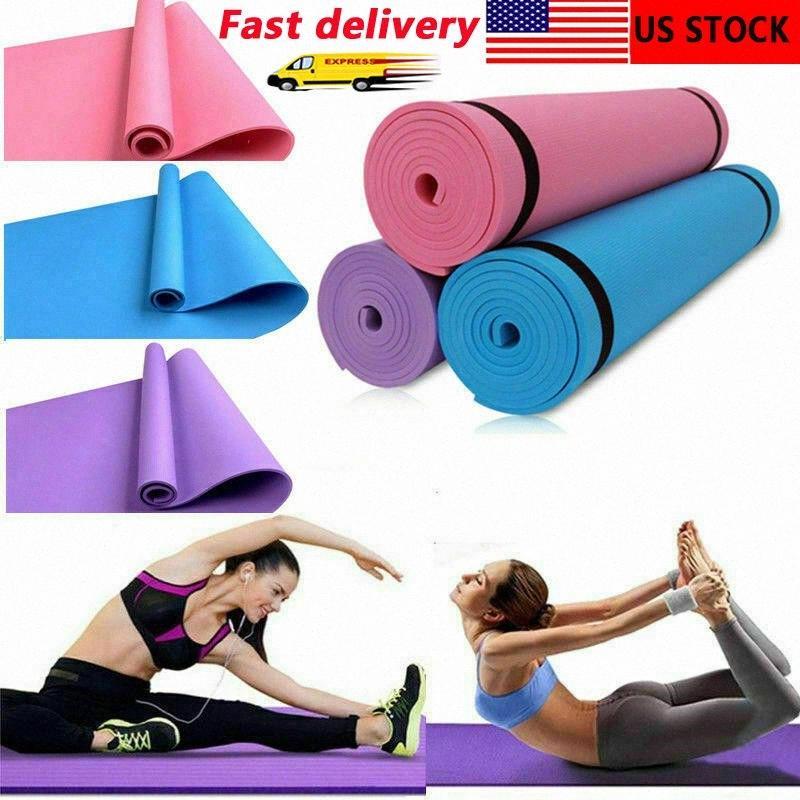 1730 * 610 * 4 mm Tapis de yoga anti-dérapant couverture EVA Gymnastic Sport Santé perdre du poids Fitness exercice Pad Femmes Sport Yoga Mat STIR #