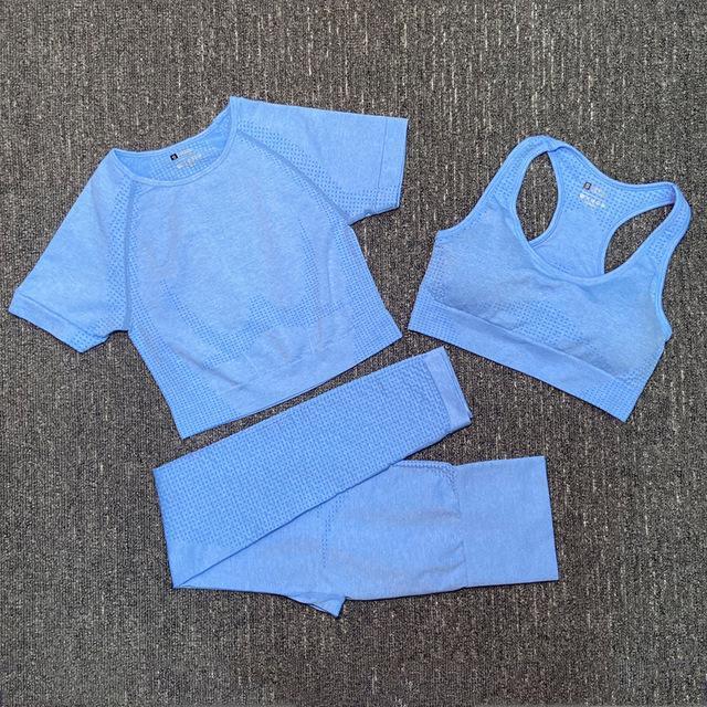 Mode Designer Womens Baumwoll Yoga Anzug Gymwear Sportwear Trainingsanzüge Fitnesssport Drei Stück Set 3 stücke Hosen BH T-shirts Leggings Outfits