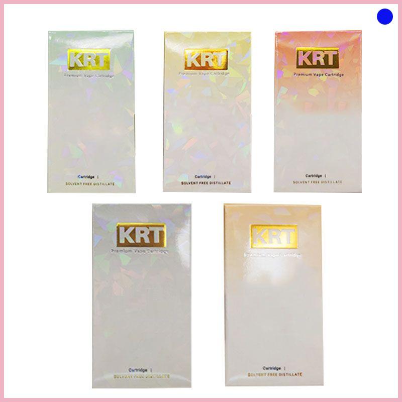 Vape KRT cart cerámica bobina vaporizador 0,8 ml tanque de vidrio de cerámica Bobina gruesa Aceite vaporizador e-CIGS atomizador 2020 nueva moda