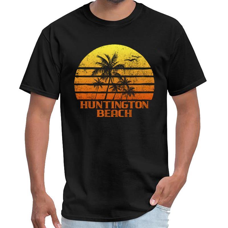Impresión retra de Huntington Beach Sunset sen camiseta caballeros de distanciamiento social camiseta 3XL 4XL 5XL 6XL tee tops