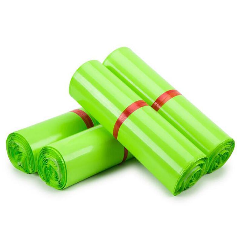 حقيبة ساعي خضراء أكياس تخزين مغلف صريحة البريد البريد الذاتي لاصق ختم الحقيبة التعبئة والتغليف البلاستيكية