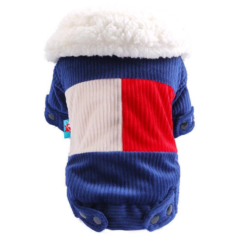 Brasão Ubranka Grosso Cotton Sl Pequeno Para Poodle Chihuahua Pet Jacket Produtos Roupa dobro do cão do Agasalho Dogs Dla VERrr