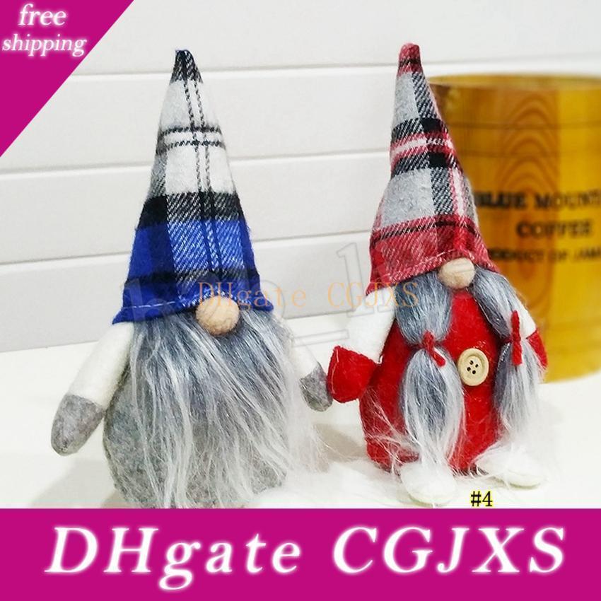 Presentes do Natal da manta Buffalo Dolls Figurines Handmade Natal Gnome Faceless Plush Nomes para enfeites Crianças Xmas Decoração Mma2807