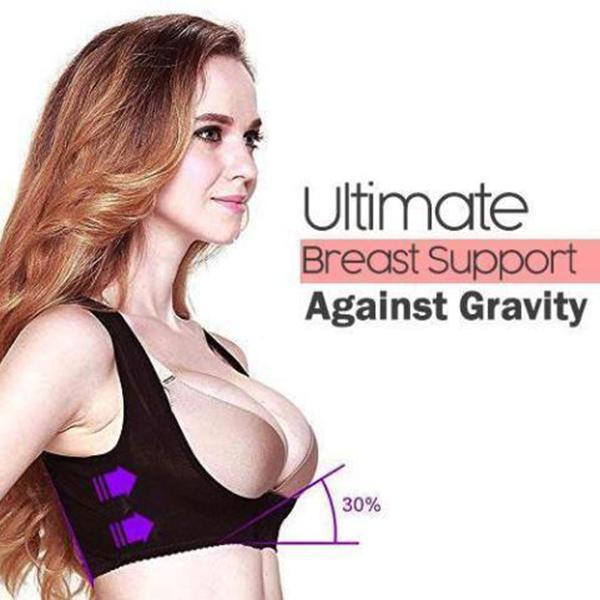 Frauen Bruststützgürtel Band-Klammer-Bust-Bügel-Gather Rücken Schulter Weste Chest Lage-Korrektor-Stützgurt-Body Shaper