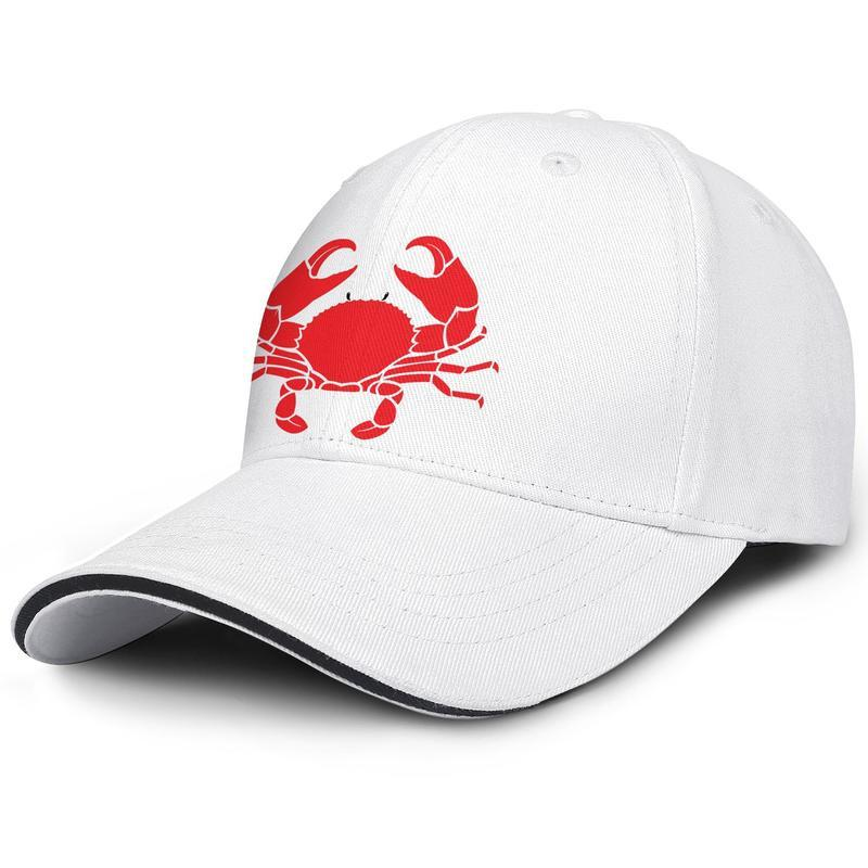 Fashion Baseball Cap red Crab Sea Animal crab Silhouette Cancer Adjustable Ball Hat Cool Personalized Trucker Cricket cancer zodiac sign