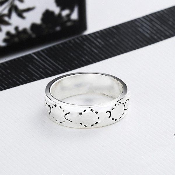 منتج جديد التايلاندية الفضة قزم الجمجمة حلقة عيد الحب هدية جودة عالية سبائك الدائري الأزياء والمجوهرات العرض