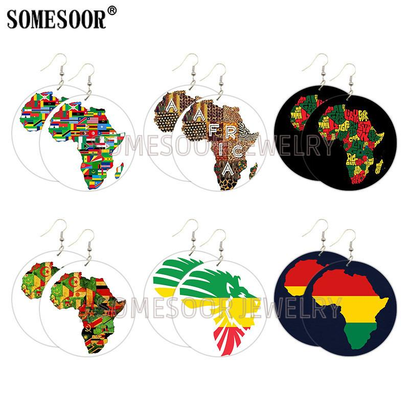 [Double-sided printing]228 Hot Selling African Earrings European and American Creative Explosive Fashion Earrings