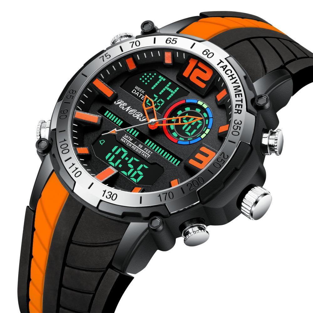 Mayforest цифровые часы мужские спортивные часы мода двойной дисплей мужские водонепроницаемые светодиодные цифровые часы мужчина военные часы Relogio