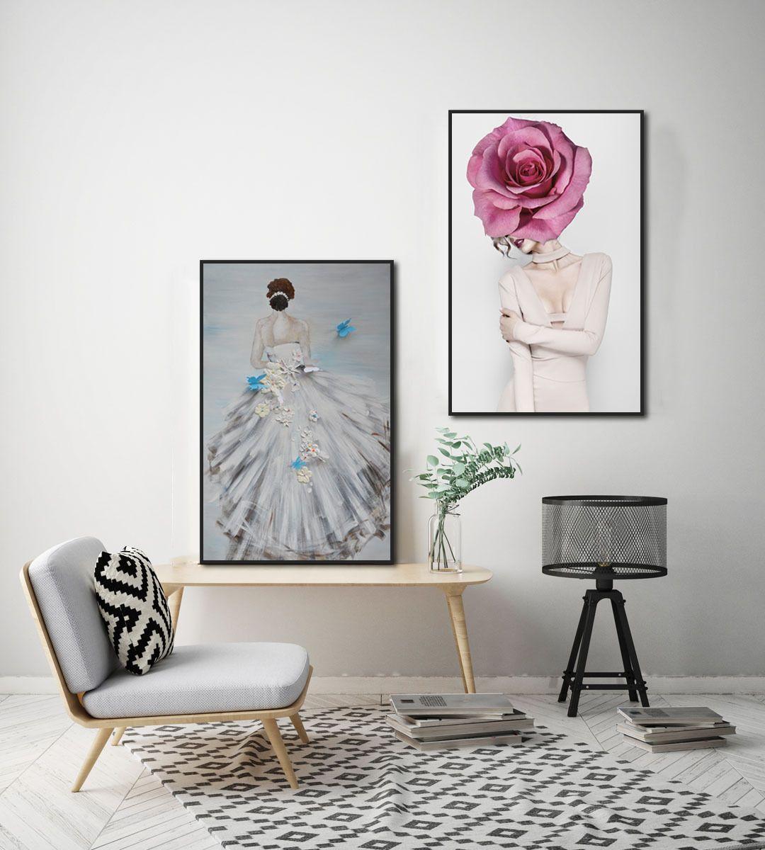 Женщина Цветок Святой Белый марлевые Характер Женский Невеста 3D масло холст украшения Картина Для дома Гостиная Комната Крыльцо Wall Art