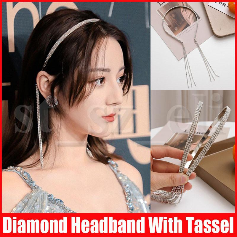 Sexy Fashion Diamond Hairband for Women Hair Accessories Lovely Hair Band with Tassel Headband Princess Tool