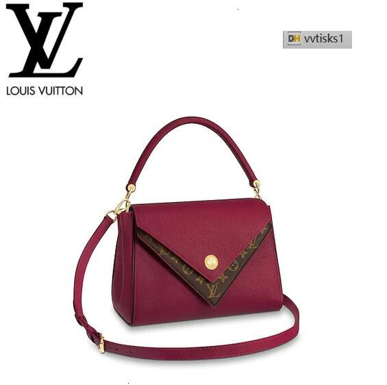 vvtisks1 A2E3 M51766 Double Lie de Vin Women HANDBAGS ICONIC BAGS TOP HANDLES SHOULDER BAGS TOTES CROSS BODY BAG CLUTCHES EVENING