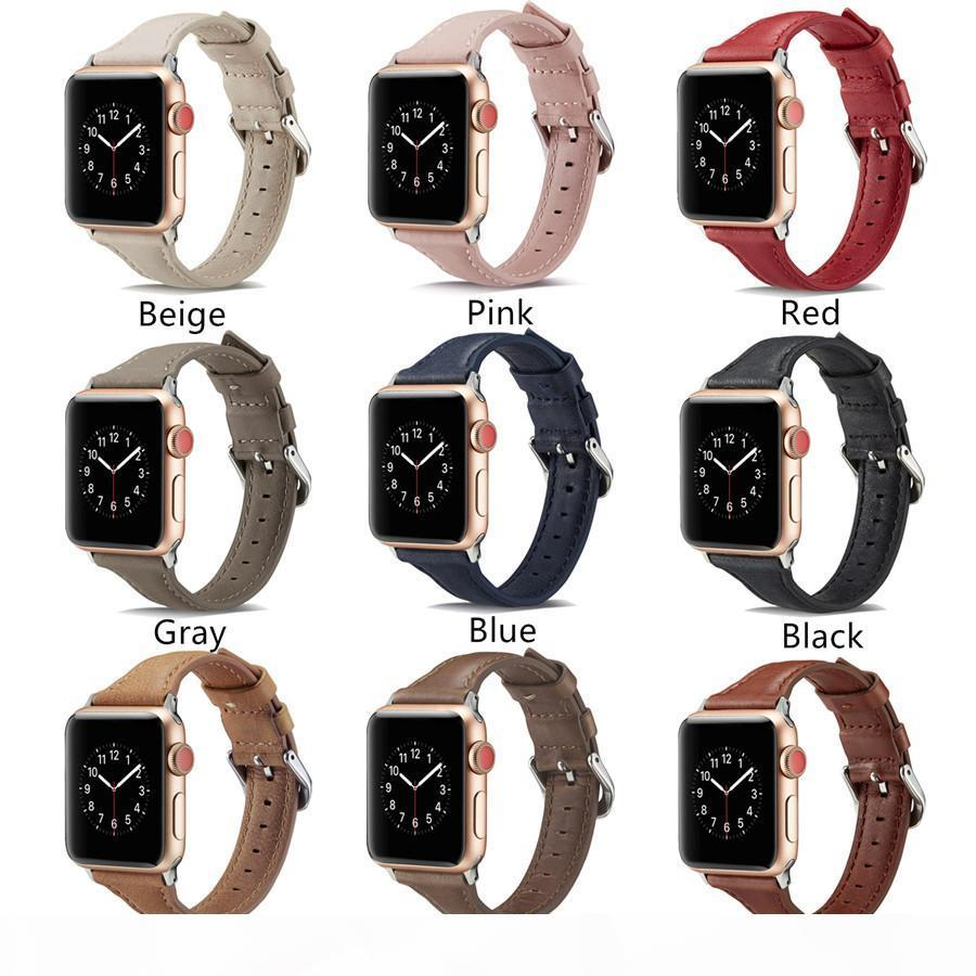 Aplicável a iWatch2 3 4 botão em forma de T primeira camada do couro carro linha pulseira de relógio ponto vendas diretas da fábrica da Apple de design de couro pulseira
