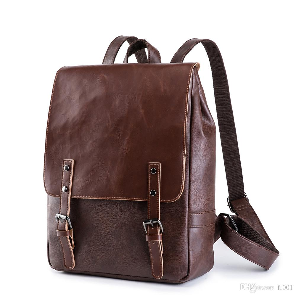 2020 Top New Fashion Luxury Plaid Leather Backpack Business Leisure Travel Backpacks Doulder Shoulder Bags