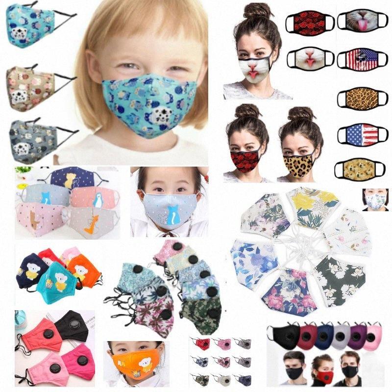 9 Styles Designer Atemmaske Valve Anti-Staub-Gesichtsmaske Folding ohne Ventil Schutz Mund-Maske für Erwachsene und Kinder HH9-3097 BCU5 #