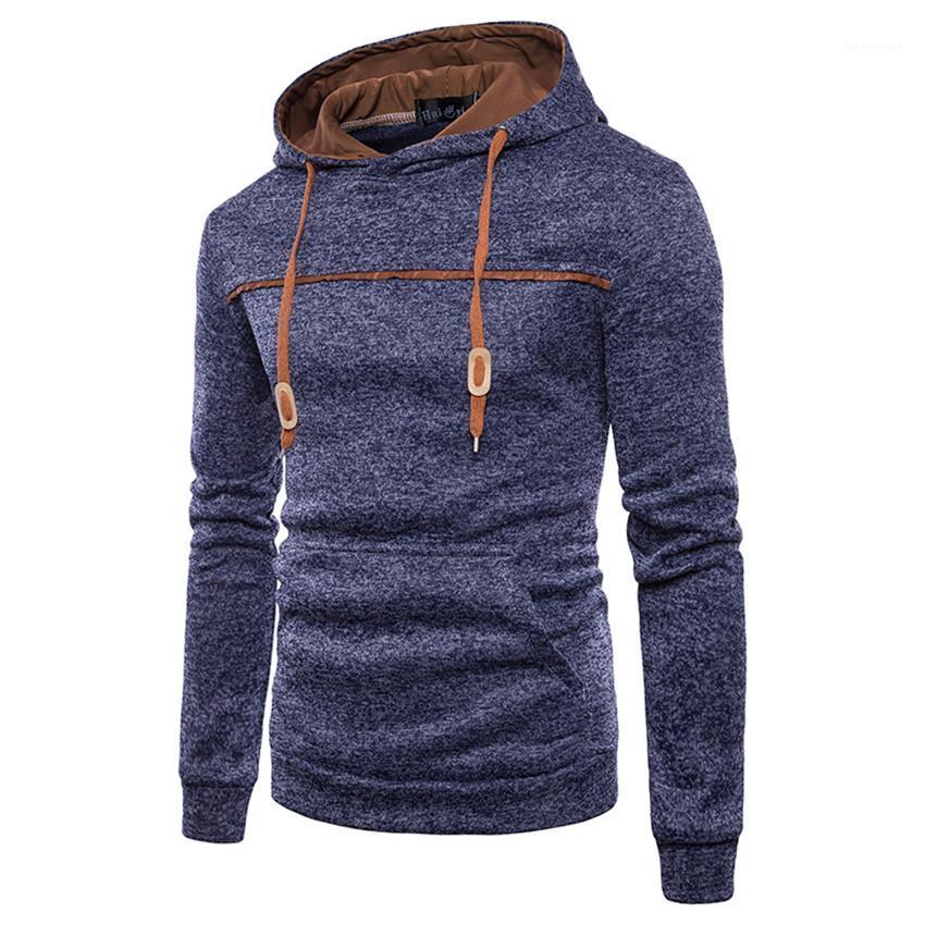 Solid Color Homme Hoodies Frühling Herbst Designer Herren Pullover Langarm-Kapuzen Patchwokr Man Sweatshirts Gelegenheits