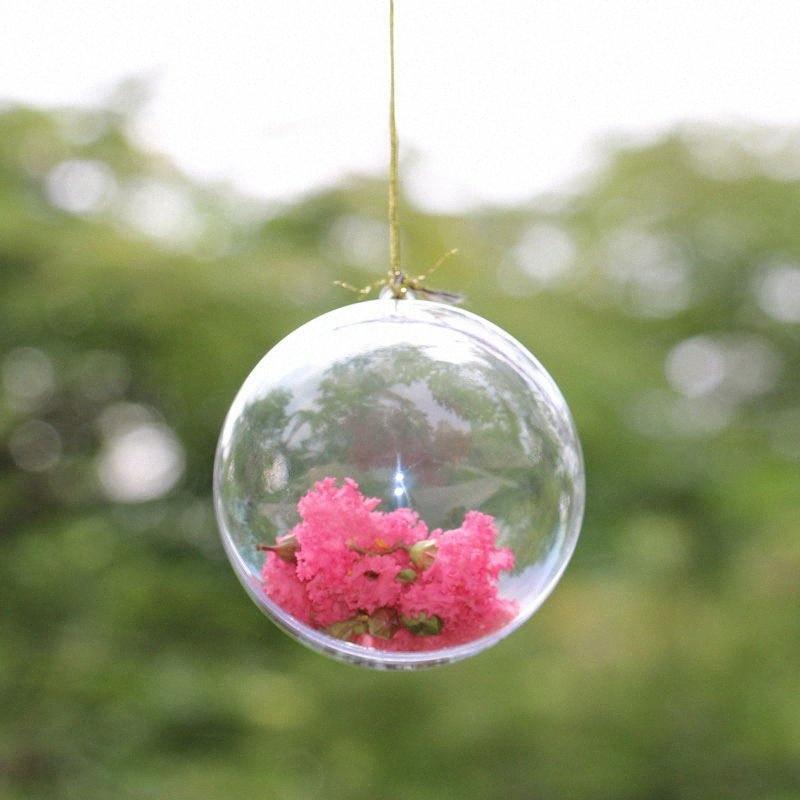 10cm Çap Şeffaf Plastik Top Noel Dekorasyon Topu Şeker Kutusu Hediye Kutusu Bebek Partisi Veda Partisi Deco zt5J # Malzemeleri