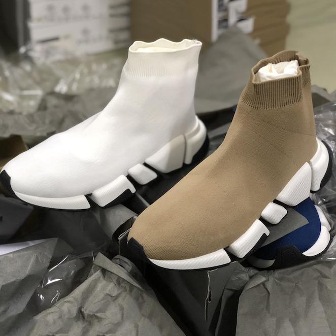 Velocità Donne Uomini 2.0 calzino Sneaker tecnica 3D Black maglia scarpe Stretch Kit air mesh scarpe ultra-articolato inferiore Runner Formatori