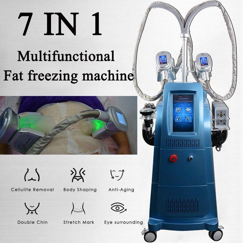 7 EN 1 criolipólisis grasa de congelación pérdida de peso que adelgaza la máquina cavitación RF máquina Lipolaser equipo de la belleza Inicio Uso ultrasónico Li YN2a #