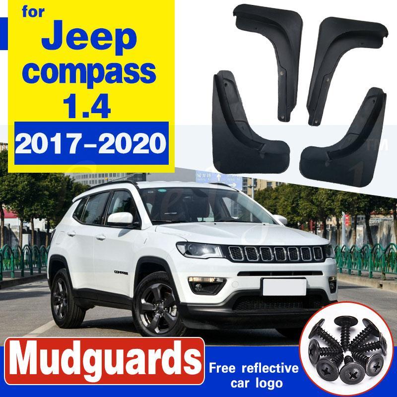 Car Styling für Jeep Compass 1.4 2017-2020 Zubehör Schmutzfänger Schmutzfänger vorn hinten Schmutzfänger Kotflügel Fender Schwarz 4pcs