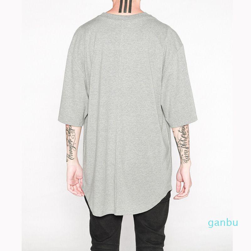 Hot Sale Продлить Hip Hop Street T -Shirt Man оптового способ США Размер футболку Мужчина лето с коротким рукавом Негабаритного Pure Color